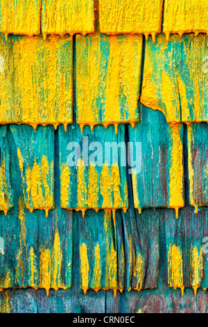 Shingled wall of a fisherman's shed in Nova Scotia, Canada. - Stock Photo
