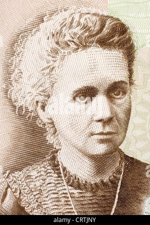 Marie Curie (1867-1934) on 20 Zlotych 2011 Banknote from Poland. - Stock Photo