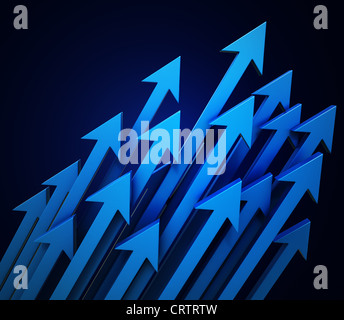 3d arrows background - Stock Photo