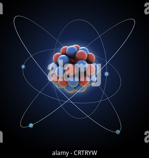 Atom - computer generated illustration - Stock Photo