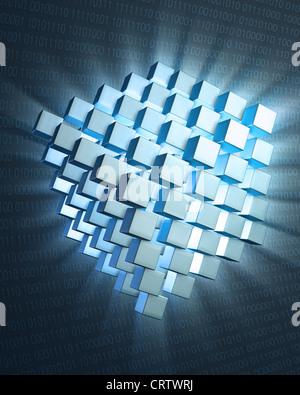 Quantum computing concept - Stock Photo