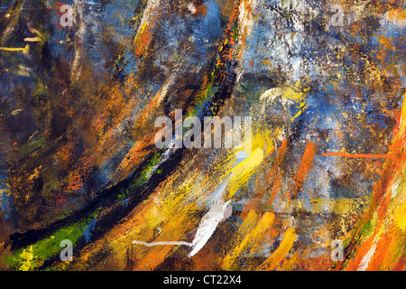 abstract splash of paintings on flat surface - Stock Photo