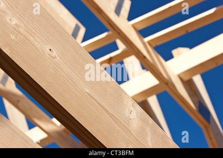 Close up of roof under construction - Stock Photo
