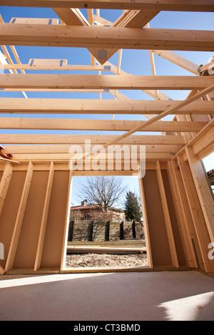 Interior of building under construction - Stock Photo