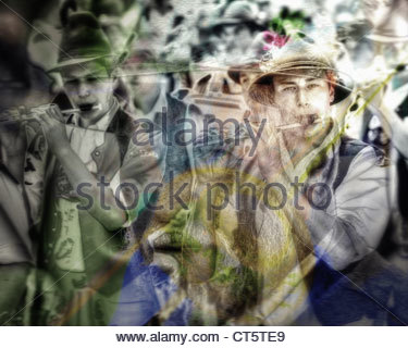 DIGITAL ART: 85th Loisachgaufest in Bad Toelz (28 June to 02.July 2012) - Stock Photo