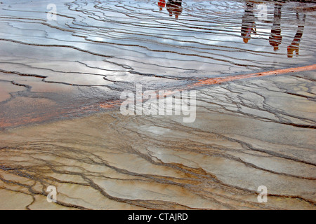 Grand Prismatic Spring, Midway Geyser Basin, Yellowstone National Park - Stock Photo