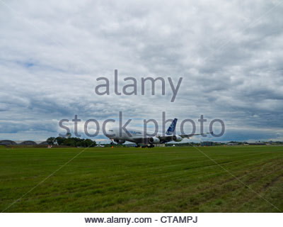 Airbus A380 Lifts off Farnborough 2012 - Stock Photo