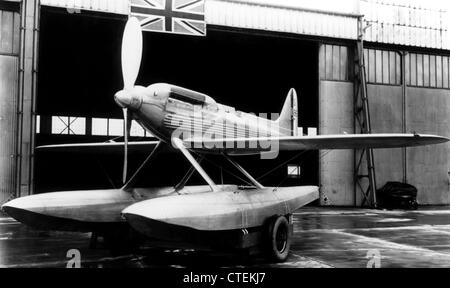Supermarine flying boat seaplane - Stock Photo