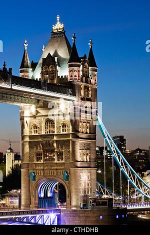 England, London, Southwark, Tower Bridge - Stock Photo