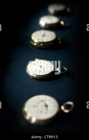 vintage pocket watches - Stock Photo