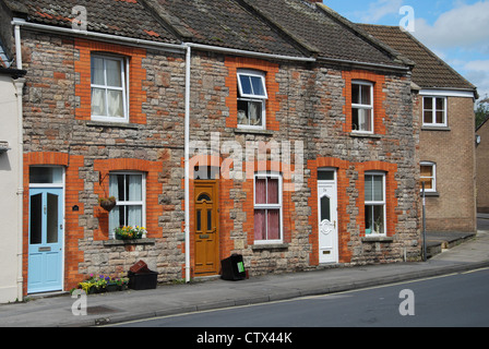domestic street, Wells Somerset UK - Stock Photo