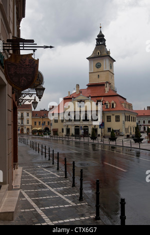 The Council Square (Piata Sfatului), Brasov, Carpathian Transylvania, Romania, Eastern Europe, EU - Stock Photo