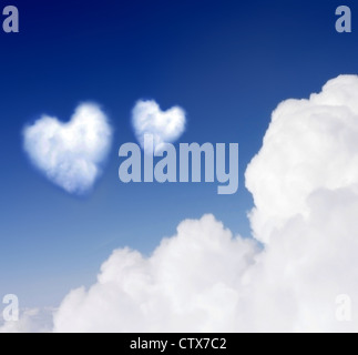Heartshaped cloud - Stock Photo