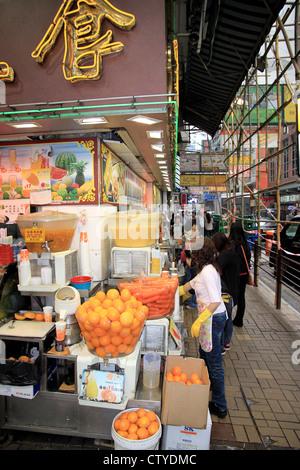 Street Food Market in Hong Kong - Lady Selling Fish [Graham Street Stock Photo, Royalty Free ...