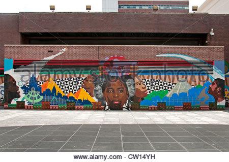 Mural harlem manhattan new york city usa stock photo for Creative mural art