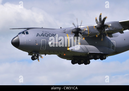 Airbus Military A400M Atlas on approach for landing at RAF Fairford - Stock Photo