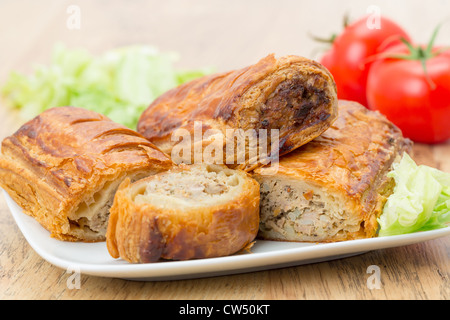 Sausage rolls in flaky puff pastry - Stockfoto