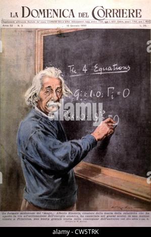 Einstein at Princeton en 1950 - Stockfoto