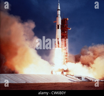 Apollo 11 launch from Kennedy Space Center (Fla) July 16, 1969 - Stock Photo