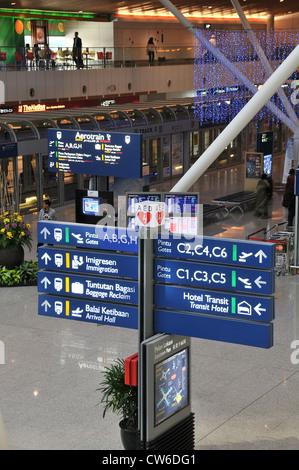 KLIA Kuala Lumpur International airport Malaysia Asia - Stock Photo