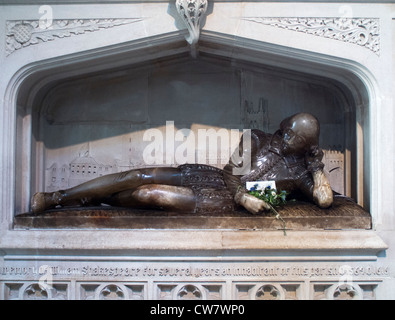Shakespeare Memorial in Southwark Cathedral, London - Stock Photo