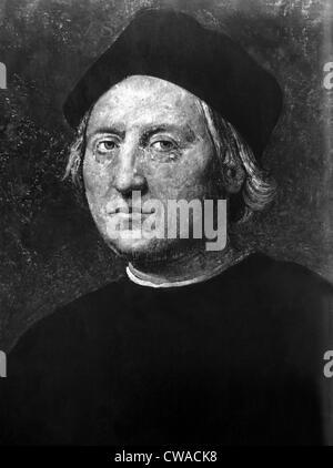 Italian explorer and sailor Christopher Columbus (1451-1506). Courtesy CSU Archives/Everett Collection. - Stock Photo