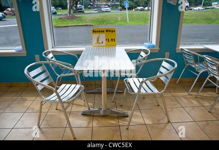 Inside Of Ice Cream & Sandwich Shop Cafe - Stock Photo