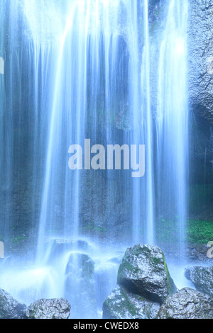Close Up View Of Waterfall - Stock Photo