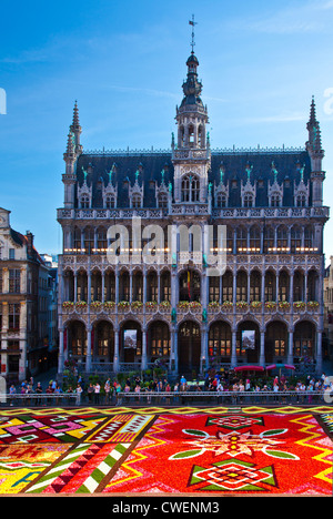 2012 Flower Carpet, Tapis de Fleurs, in front of the Maison du Roi,Broodhuis,Museum in the Grand-Place, Brussels - Stock Photo