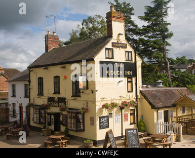 Marston's Plough Inn Upton on Severn, Worcestershire, England - Stock Photo