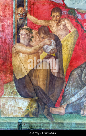 Roman frescoes at villa of the mysteries pompeii unesco for Ancient roman mural