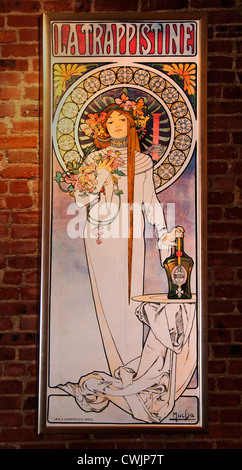 La Trappistine Alfons Mucha (1860–1939) Moravia  Czech Republic - Stock Photo