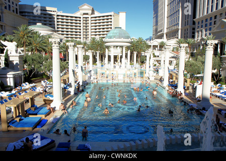 Caesars palace las vegas stock photo royalty free image for Caesars swimming pool