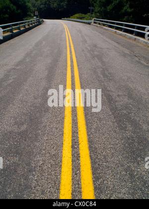 empty bridge road - Stock Photo