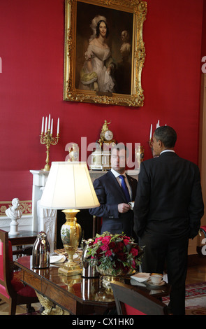 WASHINGTON, USA. JUNE 24, 2010. U.S. president Barack Obama and Russian Federation president Dmitry Medvedev (L) - Stock Photo