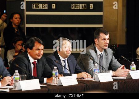WASHINGTON, USA. JUNE 25, 2010. ZAO Russky Standart (Russian Standard) chairman, Rustam Tariko, CEO of Ilim Group - Stock Photo