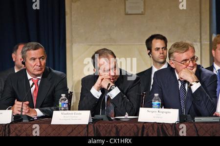 WASHINGTON, USA. JUNE 25, 2010. Itera company head Igor Makarov, Chairman of the Board of Directors of Novolipetsk - Stock Photo