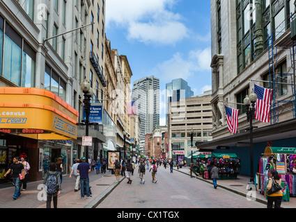 Shops On Washington Street In The City Centre Boston