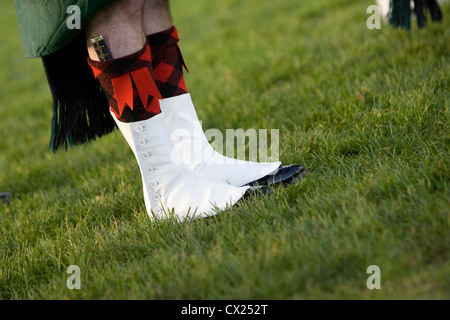 Legs and feet in scottish traditional dress - Stock Photo