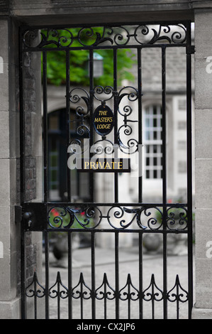 Gate to master's lodge at Jesus college, university of Cambridge, England, UK. - Stock Photo