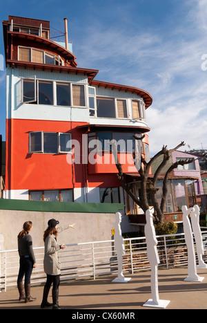 Pablo Neruda home in Valparaiso, La Sebastiana on Cerro Florida, Chile - Stock Photo