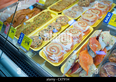 Seafood on display for sale in store in fish market in for Stock fish for sale texas
