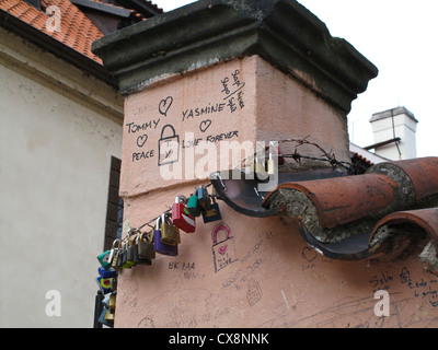 Prague, Old Town, Love Locks - Stock Photo
