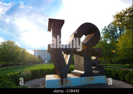 USA Indiana Indianapolis IN Indianapolis Museum of Art - The original LOVE sculpture by Robert Indiana - Stockfoto