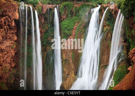 Cascade d'Ouzoud waterfall, near Marrakech, Morocco, North Africa, Africa - Stock Photo