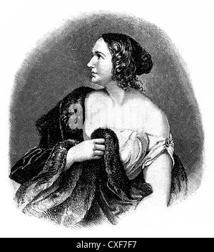 Wilhelmine Henriette Friederike Marie Schroeder-Devrient, 1804-1860, German opera singer - Stock Photo