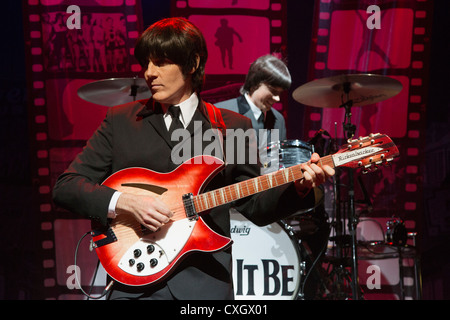 Let It Be, The Beatles Musical with the roles of John, George, Paul and Ringo being played by actors on stage. - Stock Photo
