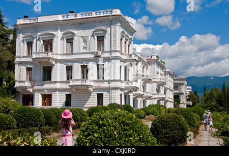 White Palace in Livadia, site of 1945 Yalta Conference - Stock Photo