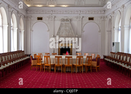 1945 Yalta Conference meeting room at White Palace in Livadia - Stock Photo