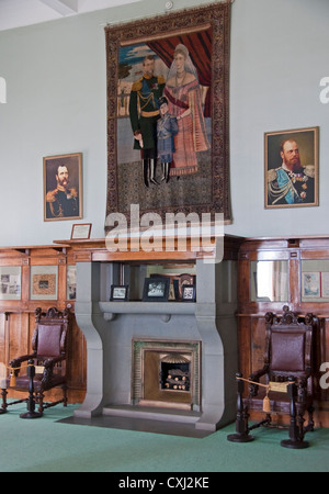 Interior of  White Palace, Livadia, summer residence of Czar Nicholas II family (on tapestry) - Stock Photo